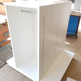 Display Cabinet with Clothes hanger