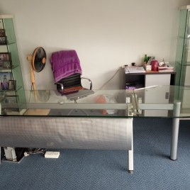 Glass Top Director Table ( Half Round ) – (SOLD)