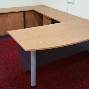 Office Executive D Shape Table Set